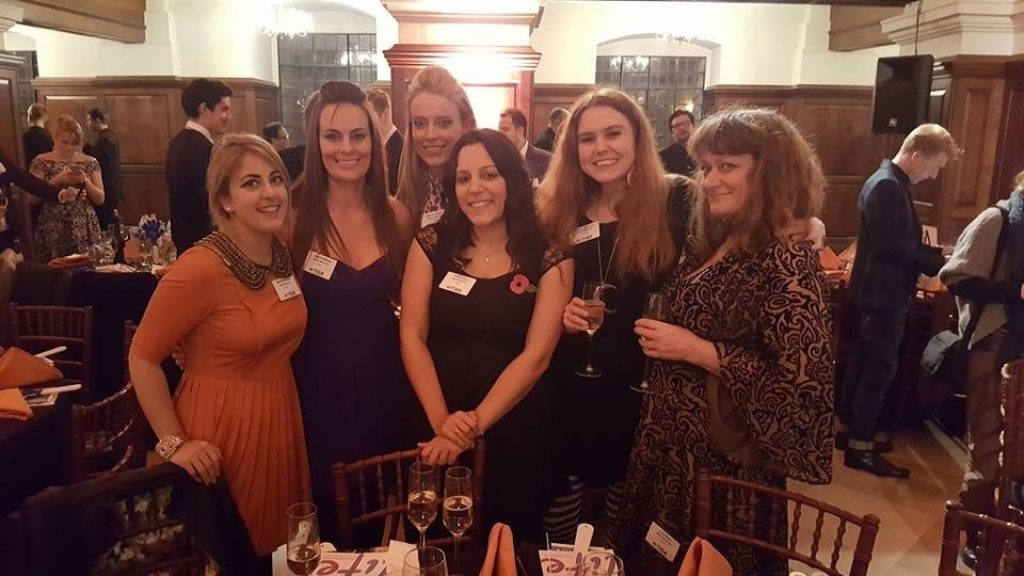 Luci, Jamie, Michelle, Gem, Jo and Jenny at the TIGA Awards