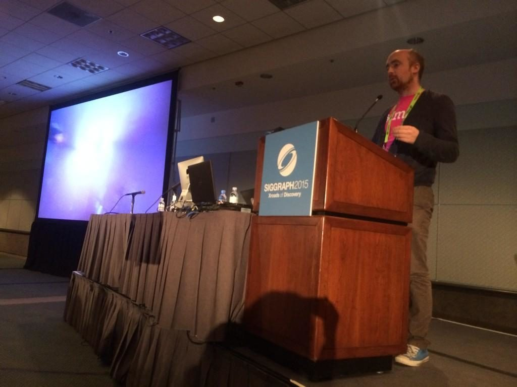 Alex speaking at SIGGRAPH 2015