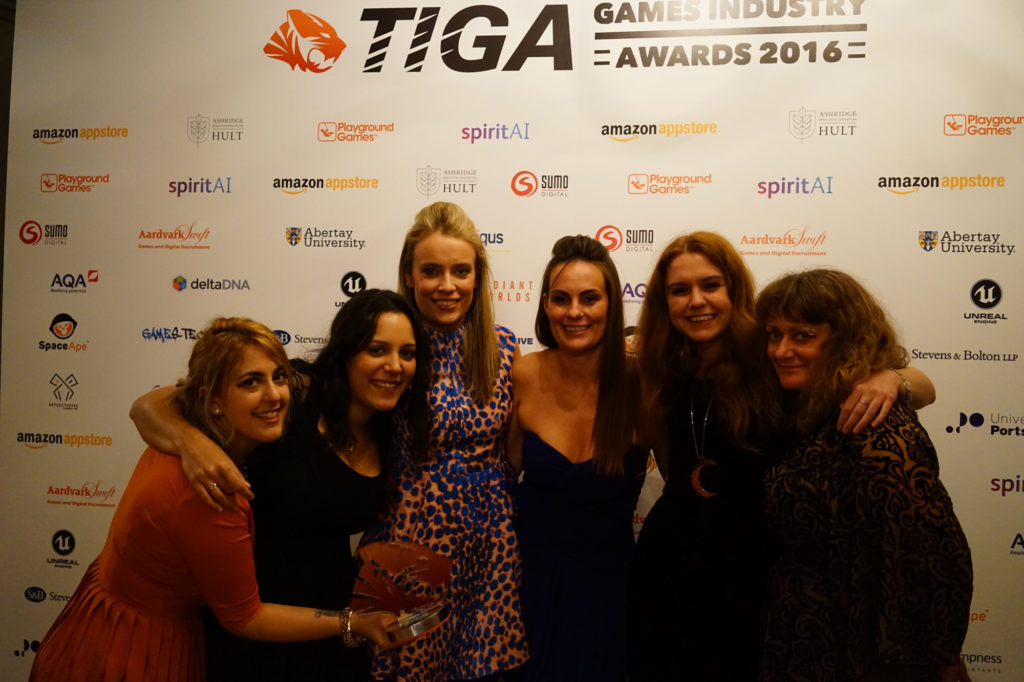 Michelle, Gem, Jo, Luci, Jamie and Jenny with our award