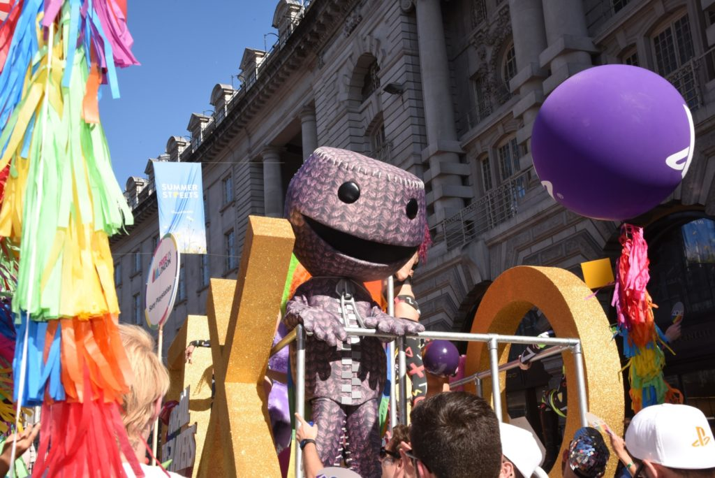 Sackboy on the PlayStation Pride float